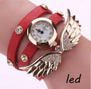 68b9184f5279 エンジェルウォッチ レディース腕時計 《レッド》 おしゃれ 天使 羽 時計[定形外郵便、