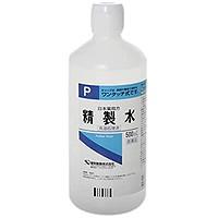 【第3類医薬品】【ケンエー】精製水 [P] 500ml 【第3類医薬品】※お一人様40本まで※同梱不可