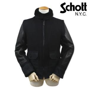 ショット Schott ボンバージャケット レザージャケット ブルゾン PERFECT SLEEVE LEATHER JACKET メンズ