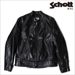 ショット ライダースジャケット Schott ジャケット レザージャケット LEATHER JACKET 620 ブラック メンズ