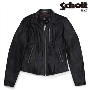ショット Schott ライダースジャケット ジャケット レザージャケット レディース LAMBSKIN CAFE LEATHER JACKET 21141W