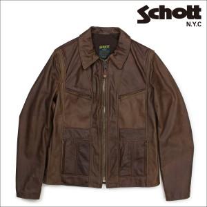 ショット Schott シングルライダースジャケット ジャケット レザージャケット メンズ MOTORCYCLE JACKET ブラウン 502