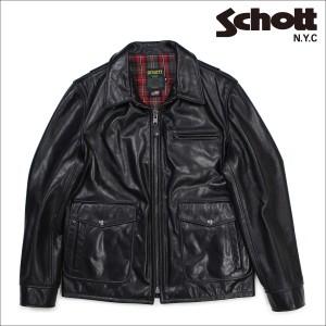 ショット Schott シングルライダースジャケット ジャケット レザージャケット メンズ MOTORCYCLE JACKET ブラック 573