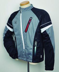 J-AMBLE urbanism バイク用ジャケット アシンメトリー メッシュジャケット グレー/ブラック 3L[4560331788887]