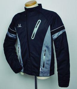 J-AMBLE urbanism バイク用ジャケット アシンメトリー メッシュジャケット ブラック LL[4560331788924]