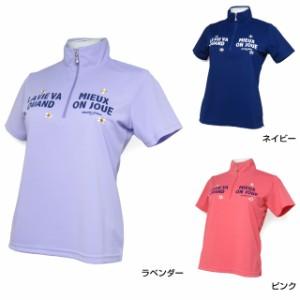 マリクレール(marie claire) (717-620) 半袖 ハーフジップシャツ レディース ゴルフウェア 2017 春夏 golf5