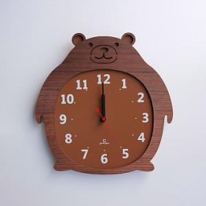 ヤマト工芸 CLOCK ZOO クマ 熊 YK14-003 壁掛け時計 アニマル動物 子供部屋 シンプル モダン おしゃれ かわいい 掛け時計 掛時計 ウォー