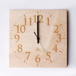 ヤマト工芸 MUKU スタンダード 数字 メープル YK14-101 壁掛け時計 シンプル モダン おしゃれ かわいい 掛け時計 掛時計 ウォールクロッ