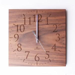 ヤマト工芸 MUKU スタンダード 数字 ウォールナット YK14-101 壁掛け時計 シンプル モダン おしゃれ かわいい 掛け時計 掛時計 ウォール