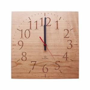ヤマト工芸 MUKU スタンダード 数字 チェリー YK14-101 壁掛け時計 シンプル モダン おしゃれ かわいい 掛け時計 掛時計 ウォールクロッ