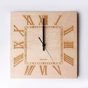 ヤマト工芸 MUKU スタンダード ローマ数字 メープル YK14-101 壁掛け時計 シンプル モダン おしゃれ かわいい 掛け時計 掛時計 ウォール
