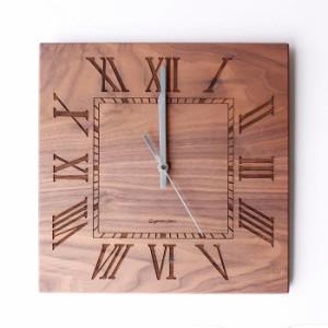 ヤマト工芸 MUKU スタンダード ローマ数字 ウォールナットYK14-101 壁掛け時計 シンプル モダン おしゃれ かわいい 掛け時計 掛時計 ウォ
