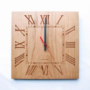 ヤマト工芸 MUKU スタンダード ローマ数字 チェリー YK14-101 壁掛け時計 シンプル モダン おしゃれ かわいい 掛け時計 掛時計 ウォール