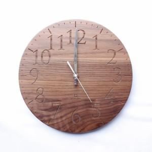 ヤマト工芸 MUKU エン ウォールナット YK15-102 壁掛け時計 シンプル モダン おしゃれ かわいい 掛け時計 掛時計 ウォールクロック CLOCK