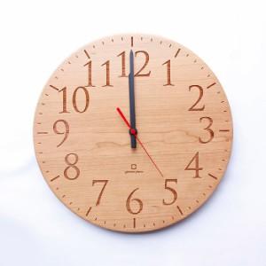 ヤマト工芸 MUKU エン チェリー YK15-102 壁掛け時計 シンプル モダン おしゃれ かわいい 掛け時計 掛時計 ウォールクロック CLOCK 時計