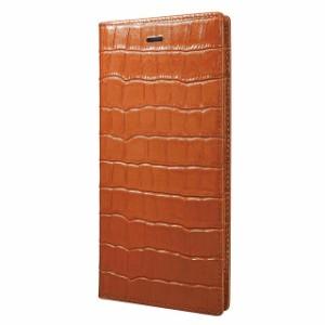 iPhone6sPlus/6Plus ケース 手帳型 グラマス GRAMAS Crocodile Patterned Full LC825PTA タン レザー 本革 クロコダイル調 正規取扱店