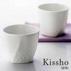 Kissho 吉祥 白磁ペアカップ 6766-02(結婚祝い/プレゼント/器/ペアのプレゼント)【F】