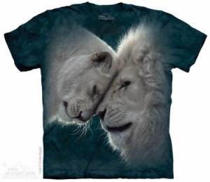 The Mountain Tシャツ White Lions Love Kids T-Shirt ライオン 獅子  (キッズ 子供用 女児 男児) S-2L【輸入品】半袖 マウンテン 動物