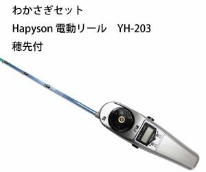 わかさぎセット 極技ワカサギ替え穂先 30cm HAPYSON 電動リールYH-203 電動セット