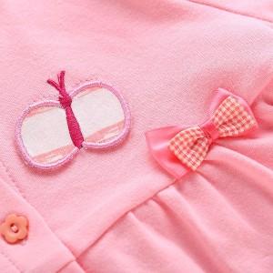 送料無料子供 アウター コート クルーネック 前開き Aライン ゆったり 長袖 無地 蝶結び飾り 裏起毛 厚地 キュート ショー