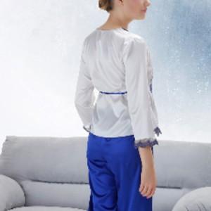 送料無料チャイナー風 チャイナ風 パジャマ 上下セット ルームウェア レディース 女性用パジャマ 春夏 刺繍 パジャマ ルームウェア ナイ