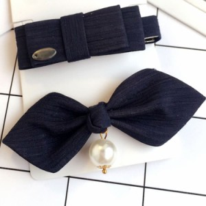 ヘアピン 2本セット ヘアピン リボン 髪飾り ヘアアレンジ 成人式 発表会 ヘッドアクセ ヘアアクセサリー 結婚式 ウエディング パーティ
