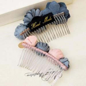 ヘアコーム コーム コサージュ 花モチーフ エレガント 髪飾り ヘアアレンジ フォーマル フラワーモチーフ ヘッドアクセ ヘアアクセサリー