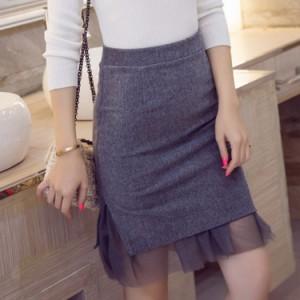 タイトスカート ショート丈 切り替えスカート スウェットスカート チュールスカート ハイウエスト 美尻スカート 無地スカート 通