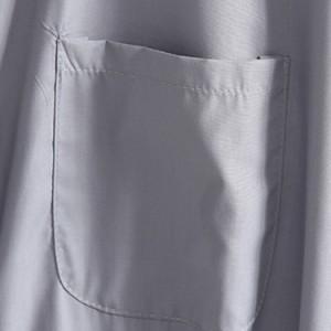 ロングシャツ カジュアルシャツ 長袖シャツ チュニック レディース スタンドカラー ウエスト紐 ゆったり 無地 シンプル ボーイ