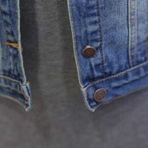 デニムベスト ジレベスト ベストコート チョッキ レディース ショート丈 折襟 羽織り 胸ポケット ウォッシュ加工 カジュアル