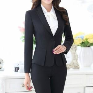 スーツセット 2点セット セットアップ テーラードジャケット スカート パンツ レディース 1つボタン ビジネス フォーマル 通勤