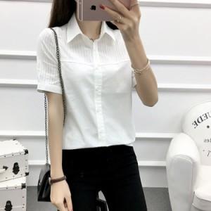 ホワイトシャツ レディース 夏シャツ 半袖/長袖シャツ ナチュラル風シャツ カジュアルシャツ オフィスシャツ OLシャツ 森ガー