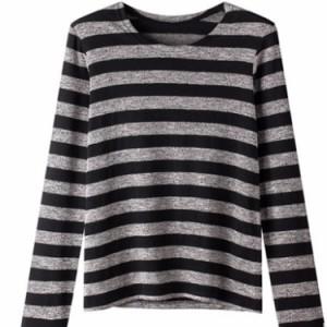 ロングTシャツ レディース ボーダーTシャツ 長袖Tシャツ シンプルTシャツ クルーネックTシャツ カジュアルTシャツ インナーTシャ