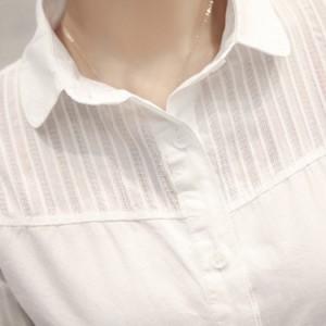 ホワイトシャツ レディース 長袖シャツ ナチュラル風シャツ 無地シャツ オフィスシャツ 森ガール系 フォーマルシャツ 通勤シャツ