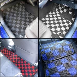 トヨタ アルファード ヴェルファイア ANH20W GGH20W ANH25W GGH25W フロアマット & ステップマット & ラゲッジマット チェック柄シリーズ