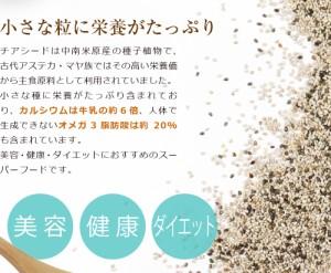 ホワイトチアシード 大容量1kg【ゆうメール送料無料】 チアシード ホワイト 無添加 無着色 オメガ3脂肪酸 スーパーフード 業務用