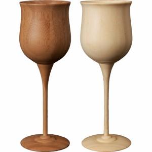 RIVERET ワイン ベッセル ペア ワイングラス 木製 ギフト プレゼント お祝い | ペアグラス グラス かわいい セット 結婚祝い 新築祝い 贈