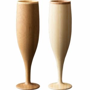 RIVERET フルート ペア シャンパン グラス おしゃれ 結婚祝い 木 木製 日本製 ギフト コップ プレゼント お祝い セット