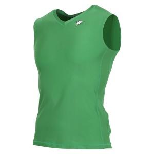 17FW カッパ(Kappa) ノースリーブコンプレッションシャツ KF412UT30-GN