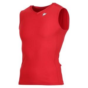17FW カッパ(Kappa) ノースリーブコンプレッションシャツ KF412UT30-RD