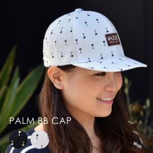 パルムショートブリベースボールキャップ 帽子 ヤシの木柄 通気性 メンズ レディース