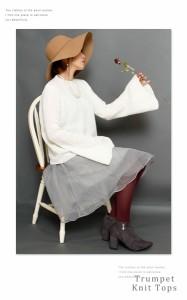 ラッパスリーブの長袖ニットトップス mode-0079 Sawa a la mode サワアラモード 大人 otona kawaii かわいい cawaii 洋服