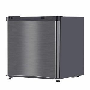冷蔵庫 46L 小型 一人暮らし 1ドアミニ冷蔵庫 右開き コンパクト ガンメタリック maxzen JR046ML01GM