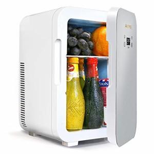 Awopee 冷温庫 ミニ冷蔵庫 家庭 車載両用 2電源式 10L 大容量 ポータブル冷蔵庫 小型でポータブル 便利な携帯式 冷蔵庫