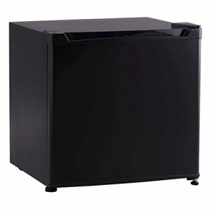 アイリスプラザ 冷蔵庫 46L 1ドア 小型 右開き 幅47cm ブラック PRC-B051D-B