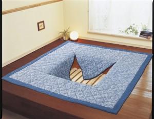 しじら織 ボリューム ラグ 掘りごたつ対応 長方形 正方形    ファブリック 敷物 マット