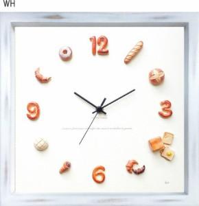 パン屋さん、カフェ、パン好きさん必見!かわいいパンの掛時計[Horloge du pain]    掛置時計