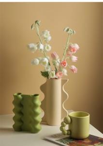 幾何学的な花瓶の装飾品0402#STL823 || 手芸 クラフト用品