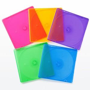割れにくい CDプラケース ディスク1枚収納 PP素材 25枚セット CD DVD BD 収納ケース [200-FCD045]
