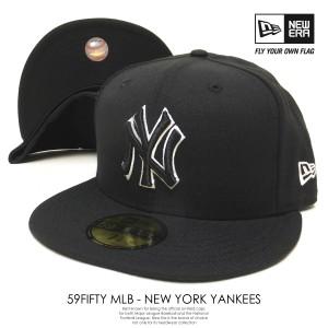 8d7ed5b2e920a ニューエラ NEW ERA キャップ 59FIFTY MLB NY ニューヨーク・ヤンキース ブラック×ブラック×ホワイトアウトライン